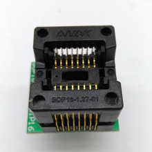 SOP16 SOIC16 SO16 to DIP16 Programming Socket Pin Pitch 0.65mm IC Body Width 3.9mm 150mil OTS-16-1.27-03 Test Socket Adapter qfn44 mlf44 wlcsp44 to dip44 double board programming socket ic550 0444 010 g pitch 0 5mm ic size 7x7mm adapter smt test socket