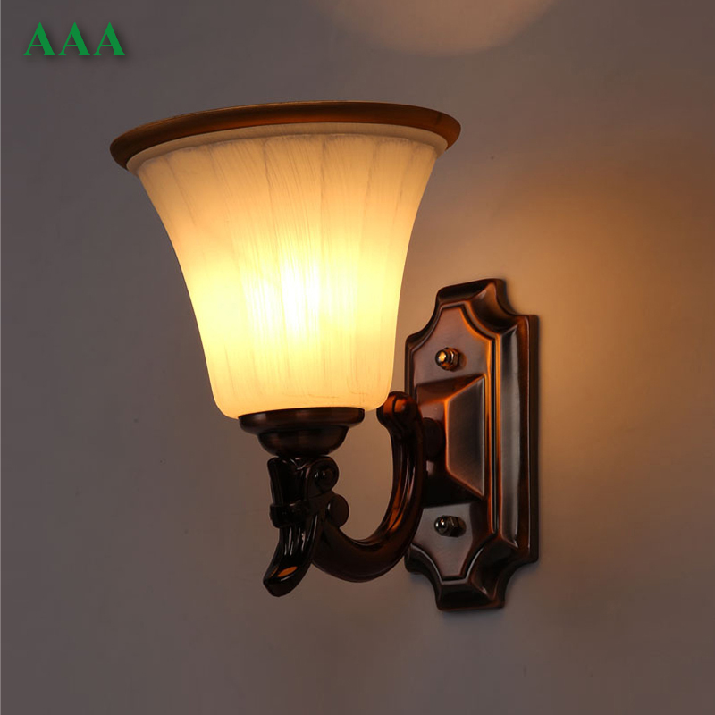 Wall Lamps Europe : European Wall Lamp Frosted Glass Bowl Light LED E27 Modern Home Decoration Living Room Wall ...
