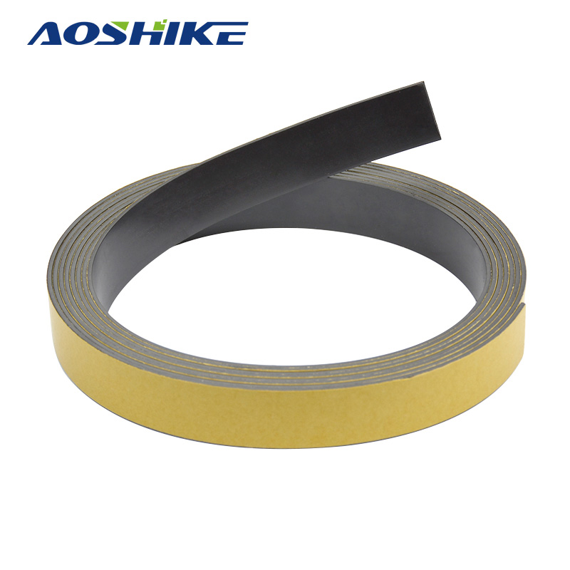 AOSHIKE 3M Magnetic Stripe 20*1.5MM Rubber Magnets Paste Sided Adhesive Can Cut All Kinds Of Shapes DIY Magnetic Tape For School new 3 meter 12 7 x 1 5mm self adhesive rubber magnetic tape magnet strip strong suction can cut a variety of shapes diy