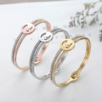 Double Z Bracelets Bangles Silver Stainless Steel Women S Bracelet Jewelry Luxury Fashion Jewelry