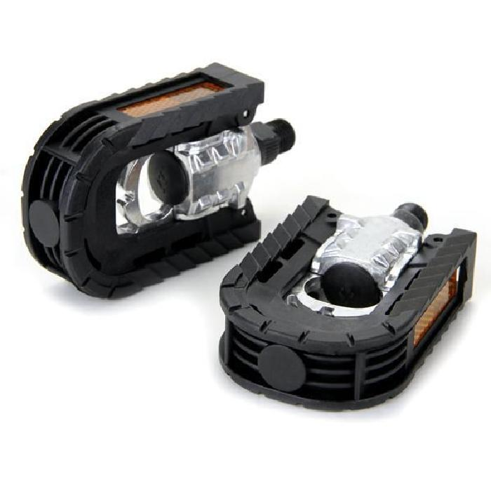 2 x Folding Pedal in Black for Bike Bicycle Cycling MTB