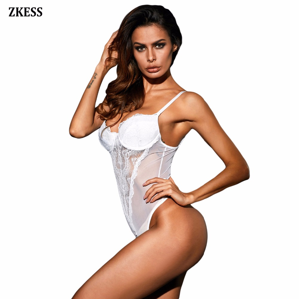 White-Lace-Cup-Mesh-Bodysuit-LC32175-1-3
