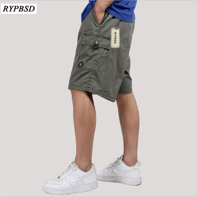 New Summer Short Men Casual Army Green Cargo Short Men High Quality Fashion Solid Straight Loose With Pockets Short Homme 6XL