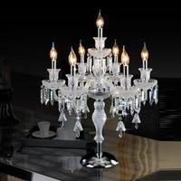прикроватные светильники настолная лампа классика Кристалл настольные лампы для спальни роскошные высокого качества Кристалл Настольная
