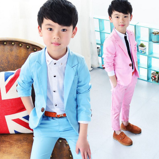 729f9cc272ab9 2018 New Autumn Korean Kids Clothes Toddler Boys Clothing Boutique  Jacket+Pants Set Boy Wedding Suit Boys' Formal 4 6 8 10 Years