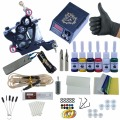 Tattoo 8 Wrap Coils Liner Machines 6 Colors Taty Pigment Sets LCD Power Supply Kit  Needle Permanent  Makeup