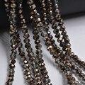 Смешанные цвета 3*4 мм 140 шт Rondelle Австрийские граненые Хрустальные стеклянные бусины Свободные Круглые бусины для изготовления ювелирных изделий - фото