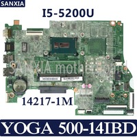 KEFU 14217 1M Laotop motherboard for Lenovo YOGA 500 14IBD Test original mainboard I5 5200U