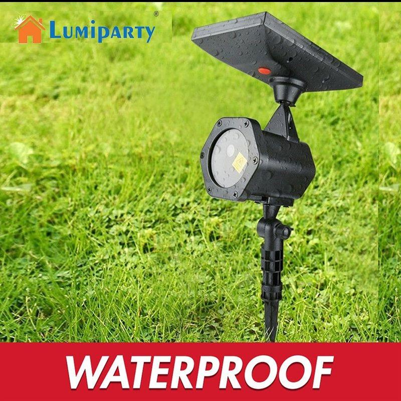 LumiParty Outdoor Waterproof Solar Powered Projector Lawn Lights LED Laser Lights for Yard Garden Christmas Party цена и фото
