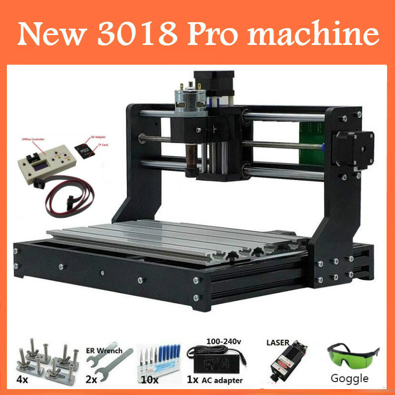 CNC 3018 PRO Laser Engraver Wood CNC Router Machine GRBL ER11 Hobby DIY Engraving Machine for Wood PCB PVC Mini CNC3018 Engraver-in Wood Routers from Tools    1