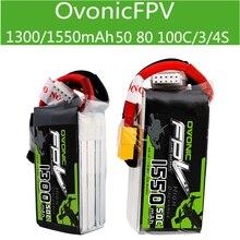 Bateria de alta taxa ovônica de alta taxa, 1300/1550 MAh3 4S 50 80 100c através de bateria de lítio fpv