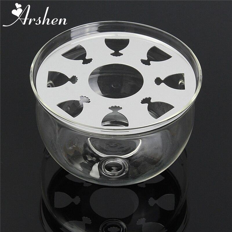 Arshen Teapot Trivets Heating Heat Resistant Base Coffee Water Scented Tea Warmer Candle Heater   Metal Heat Pad