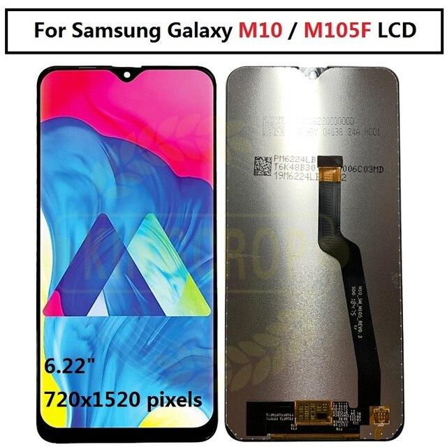 لسامسونج غالاكسي M10 2019 SM M105 M105F M105G/DS شاشة LCD تعمل باللمس محول الأرقام الجمعية استبدال لسامسونج M10 lcd