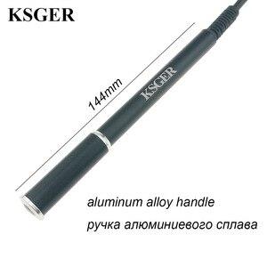 Image 2 - Ksger estação de solda, t12 liga de alumínio fx9501 pega stm32 oled ferro de solda estação de solda pontas de solda reparo ferramentas eletrônicas v2.1s v3.0 v2.01