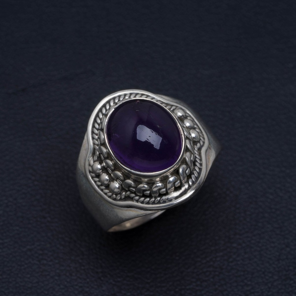 Natural Gemstone Unique Design Amethyst 925 Sterling Silver Ring Size 9 AM664Natural Gemstone Unique Design Amethyst 925 Sterling Silver Ring Size 9 AM664
