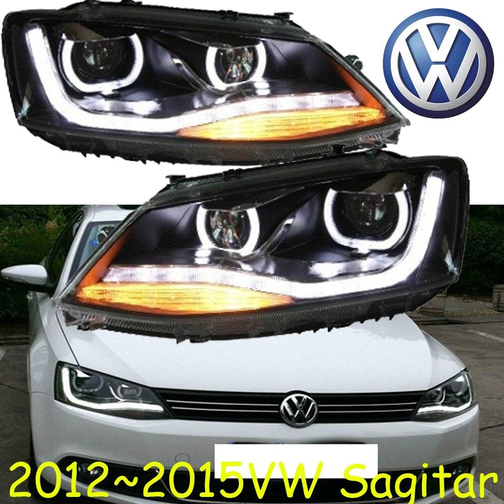 car-styling! Jetta headlight,2012~2015,Free ship!chrome,Jetta fog light,chrome,LED,2ps+2pcs Aozoom Ballast,Phaeton,Jetta,sagitar