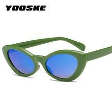 YOOSKE Pequeno Oval Óculos De Sol Das Mulheres óculos de Sol Do Olho de Gato  Retro Preto Vermelho Amarelo para As Mulheres Estil. f9615b9a00