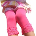 Candy Color Velvet Lace Children Seven Points And Nine Minutes Pants Leggings