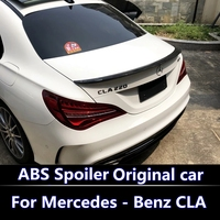 For 2013 2017 Mercedes Benz CLA CLASS W117 CLA45 CLA250 CLA260 ABS Material Car Rear Wing Primer Color high quality spoiler