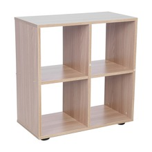 4 Grids Step Storage Cube Display Shelf Modern Wooden Bookshelf Bookcase Home Office Use New for living room bedroom study room