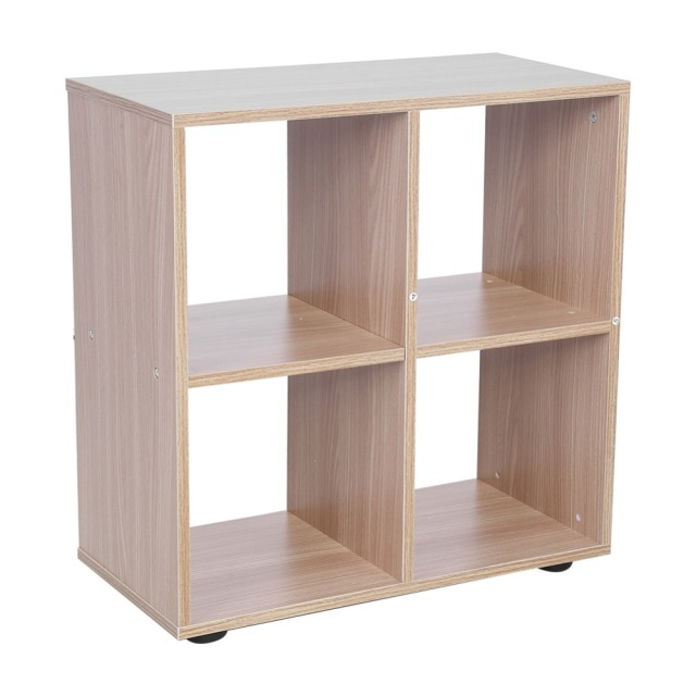 4 Grids Step Storage Cube Display Shelf Modern Wooden Bookshelf Bookcase Home Office Use New For