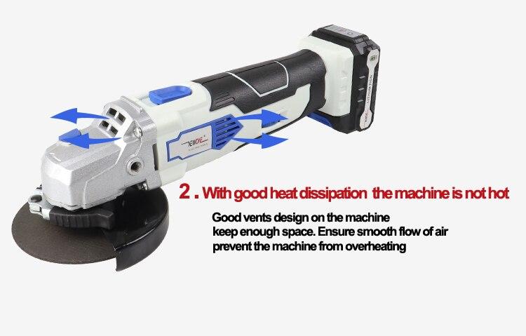 NEWONE 12V Winkel Grinder mit 2000mAh Lithium-Ionen M10 Cordless Power Tool Schneiden und Schleifen Maschine Polierer für Home DIY