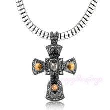 Moda cruz colgante de collar moldeado cristalino de alta calidad venta al por mayor de la gota CN103