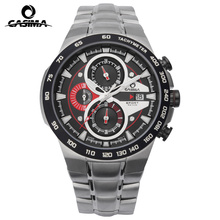 men's watches stainless steel Quartz-watch Fashion Casual Sports man watch luminous chronograph waterproof 100m CASIMA#8209