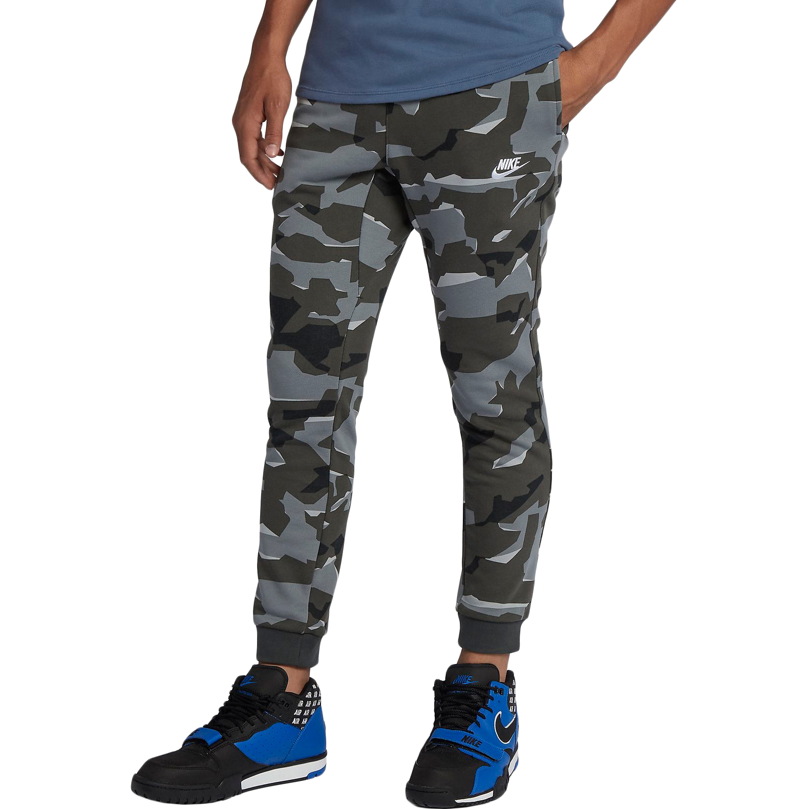 Pants Nike M NSW CLUB CAMO JGGR FT TmallFS цена