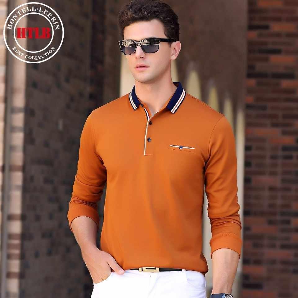ceabe4f9a34 ... Htlb бренд Для мужчин осень Ralph Для мужчин Бизнес Повседневное  одноцветное Мужские Поло рубашка Мода Для ...
