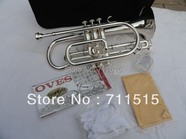 Wholesale - B the cornet trumpet instrument surface silver plating the b