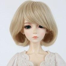 Bjd doll sd wigs 1 3 pear roll high temperature silk short hair BBGirl Doll doll
