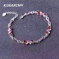 KJJEAXCMY Natural Garnet Bracelet 925 Sterling Silver Sterling Silver Jewelry Wholesale