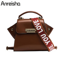 Anreisha Newest Design Women Handbags Soft PU Leather Shoulder Bags European Style Office Lady Tote Bag