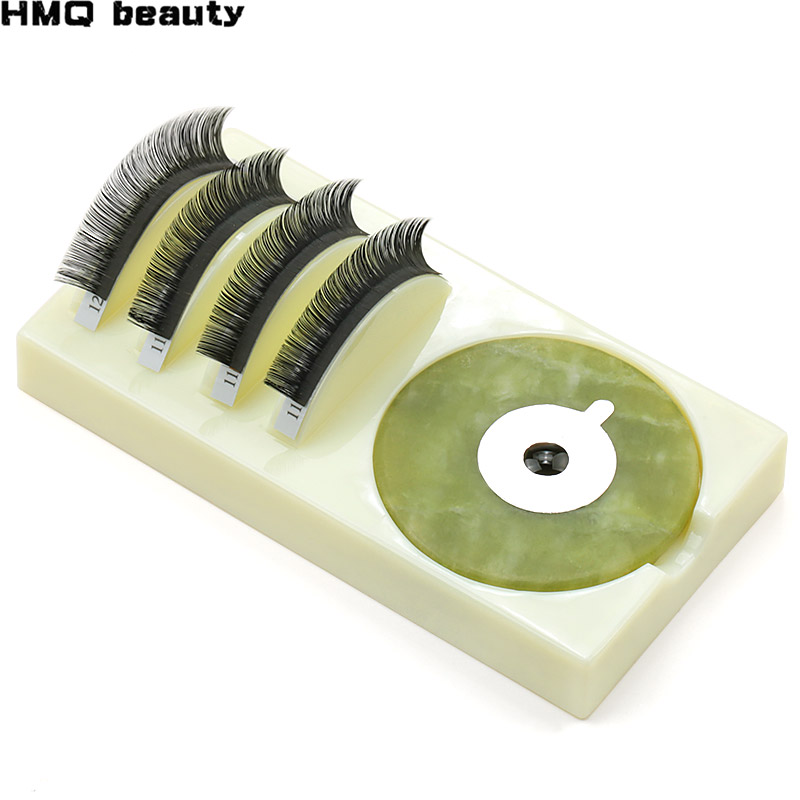 1PCS 2in1 False Eyelashes Stand Pad Glue Pallet Lash Holder Pad Individual High Quality Acrylic Eyelash Extension Essential Tool