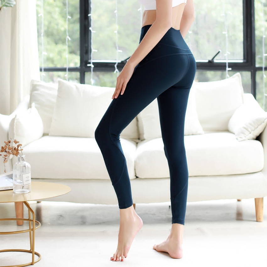NWT 2018 woman Sports capris skinny tight sexy gym pants super quality stretch fabric size us4-us12 free shipping slack skinny tight fit work pants