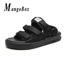 de44c6051 2019 New Trend Mens Shoes For Summer Black Beach Bathroom Shoe Man  Comfortable Beach Surfing Slippers Anti-Slip Sandals Outdoor