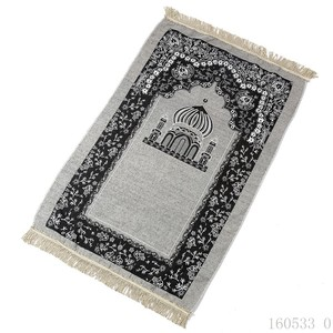 Image 3 - Viaggio Musulmano Tappeto di Preghiera 115x75cm Culto Zerbino Moschea di Anti slip Tappeto Tappeti per Complementi Arredo Casa Rettangolo Coperta area Tappeti