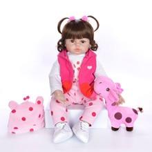 Cute Silicone Reborn Doll Simulation Baby Doll  Baby Girl Doll Wedding Gift Child Gift недорого