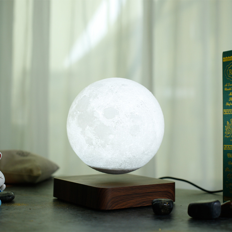 Magnetic Rotation Levitating 3D Moon Lamp - Lamps & Lighting