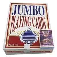 52 本の巨大なトランプジャンボポーカー庭魔法家族パーティーゲームカード