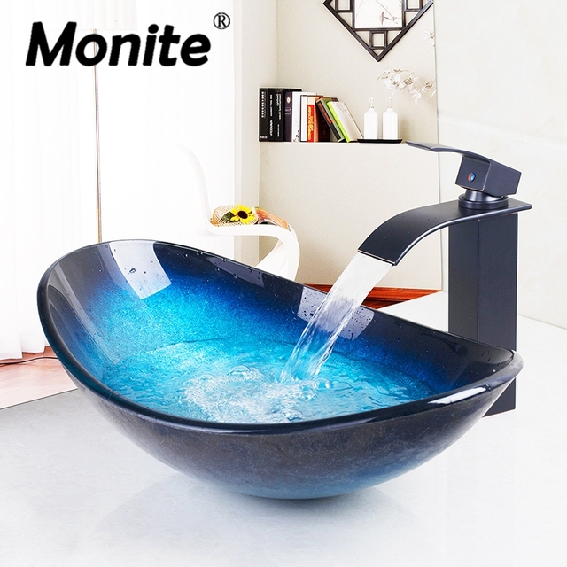 Fast Free Shipping Bathroom Unit Cloakroom wash Basin sink Bowl with ORB Mixer Faucet tap