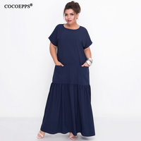 364385543fa652 ... Lange Jurk Casual Elegant Party Formele Plus Size vestidos. L 6XL 2019  Summer Long Dress Women Large Size Loose Elegant Maxi Dress Casual Plus Size
