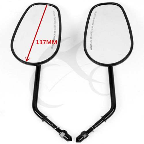 NEW Rear View Side Mirrors For Harley Road King Fatboy FLHT FLHR Touring XL 883 SPORTSTER Softail Springer Heritage Classic black rear view mirrors for harley touring road king glide vrscaw v rod softail 10 16
