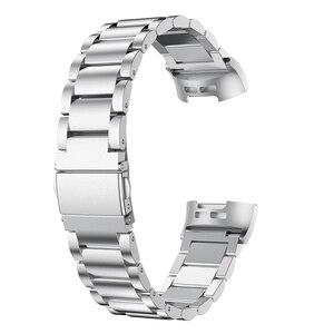 Image 3 - Fitbit Charge 3 Dây Dây Thép Không Gỉ Fitbit Charge 3 Dây Đồng Hồ Kim Loại Dây Dây Đeo Đồng Hồ Đeo Tay vòng Tay