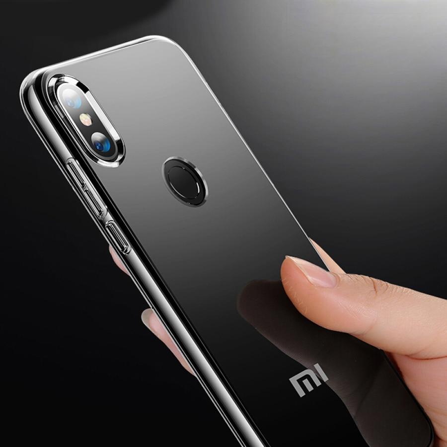 TPU Soft Case For Xiaomi Mi 9 SE Mi 8 Lite Mi 6 Transparent TPU Silicone Phone For Xiaomi Redmi Note 7 6 5 Pro Anit Skid Case in Fitted Cases from Cellphones Telecommunications