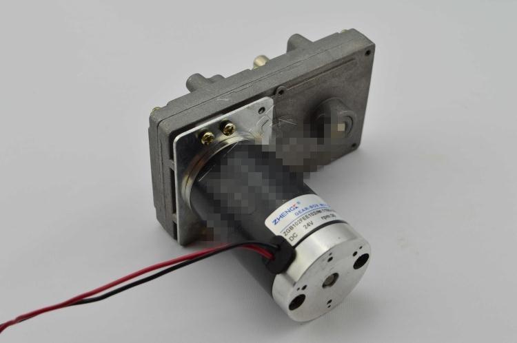 ZGB102FEE 12V 24V DC Geared Motor Output Shaft Misalignment 102mmx60mm DIA zga37rh dc 24v 25rpm 6mm shaft dia cylinder permanent magnet geared box motor