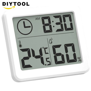 цена на Weather Station Indoor Thermometer Hygrometer Digital LCD C/F Temperature Humidity Meter Alarm Clock instruments