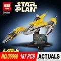Naboo LEPIN 05060 187 Unids Star Wars UCS estrella tipo Kit de Bloques de Construcción Ladrillos Compatibles 10026 Juguetes Modelo de avión de combate regalos