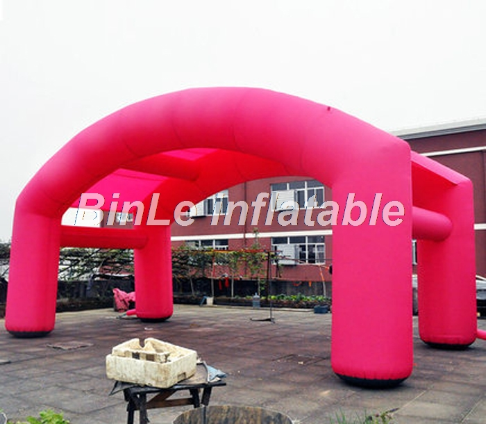 Red oxford cloth square inflatable tent for exhibition promotion event outdoor advertising inflatable arch tent the red tent